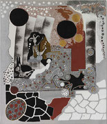 Sirène et Folle Blanche  2006        60 cm x 70 cm