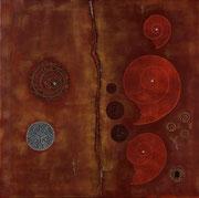 Ocre Rouge 2          70 cm x 70 cm