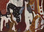 Bicéphale et Maternité     39 cm x 53 cm