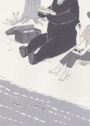 川上弘美「神様」挿絵・練習2、2014