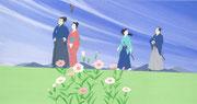 葉室麟「風かおる」幻冬舎9月新刊 原画2015