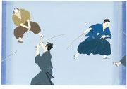 装画練習・池波正太郎「剣客商売」から、2013