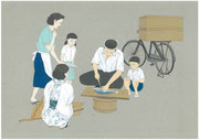 昭和30年代の魚売り・2013