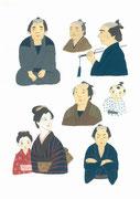 顔の練習、老若男女1・2012