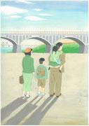 多摩川へピクニックの帰り・2013