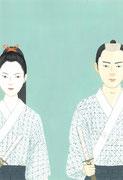 鳥羽亮「剣客春秋」里美の恋、 装画練習1・2013