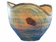 Schale 3: Nußbaum  H: 180mm, Ø: 220mm,  Wandstärke: 6mm
