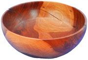 Schale 19: Kirschbaum  H: 90mm,  Ø: 220mm,  Wandstärke: 4mm