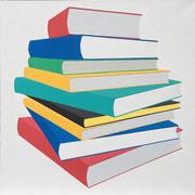 Bücherstapel 85x85, 2020