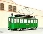 Bild Nr.27: Das letzte Basler Tram in Lörrach (D) am 31.August 1967, 100x80 - auch als Ansichtskarte erhältlich unter  «www.tramoldtimer-basel.ch»