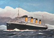 Die Titanic auf Fahrt 2, Aquarell, 20x29, 2021