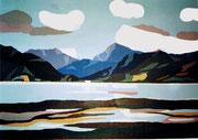 Weisse Wolke am Ben Nevis in Schottland, 50x40