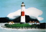 Leuchturm auf der Insel Föhr, 70x50
