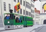 Bild Nr.36: Das Dampftram in Bern, 70x50, 2020