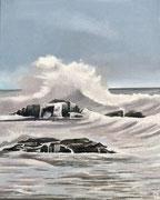 Das Meer bei Dieppe (Normandie) Oel, 24x30, 2021