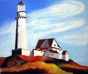 Leuchtturm auf der Insel Föhr, 60x50