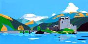 Das Eilean Donan Castle in Schottland, 80x40 (2013)