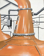 Lagavulin-Whisky-Brennerei, Schottland,Oel, 24x30, 2021