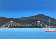 Eisenbahnbrücke bei Inverness in Schottland, 50x70, 2019