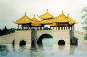 5-Pavillon-Brücke in China, 60x40 (Privatbesitz)
