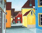 Häuser in Kandern, Deutschland, 60x50