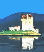 Abendstimmung beim Eilean Donan Castle (Schottland), 50x60