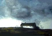 Gewitter über Nordfriesland, 70x50