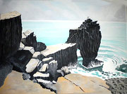 Felsen in der Bretagne, 70x50
