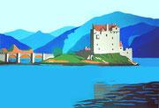 Das Eilean Donan Castle in Schottland, 90x60