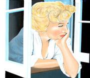 Frau am Fenster, 70x60