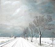 Winterstimmung in der norddeutschen Ebene, 70x60