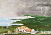 Gewitter in Irland über Donegal, 50x70 (Privatbesitz).