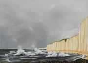 Die Küste der Normandie in Dieppe, 100x140 (2015)