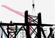 Baustelle in Berlin (nach einer Foto des Architektur-Fotografen Gerhard Ullmann, Berlin)