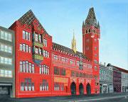 Das Rathaus in Basel, 100x80
