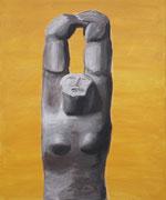 Ohne Titel, 2009, Acryl auf Leinwand, 60 x 50