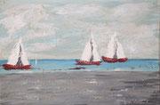 Segelboote, 2016, Acryl auf Leinwand, 40 x 50