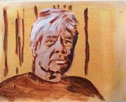 Erhard, 2013, Acryl auf Papier, 18 x 23