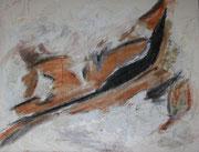 Sichel, Acryl/Ölkreide auf Leinwand, 2012, 60 x 80