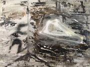 Matera, Acryl, Collage auf Leinwand, 2017, 40 x 50