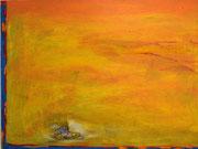 Tiger, 2012, Collage und Acryl auf Leinwand, 50 x 70