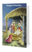 102) Weihnachtskarte (Klappkarte mit Gedicht im Innenteil - 182 x 117 cm) 1,80 €