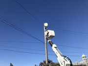 埼玉県杉戸町某運送会社様屋外照明灯設置工事
