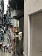 東京都台東区上野アメ横路地裏某店舗様仮設電気工事