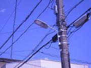 さいたま市岩槻区公衆街路灯LED100VA灯具交換修繕