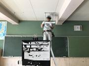 埼玉県さいたま市岩槻区某小学校黒板灯交換工事