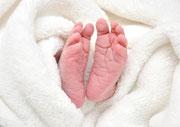 Füsschen von Elisa, zwei Tage alt