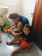 William helped Andre to fix the sink.
