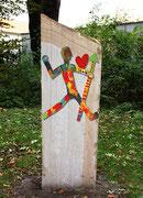 """""""Der Körner Held"""" im Körner Park von Ulrike Fischer 2015"""