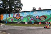 Graffito am Körner Platz von Friedrich Lohmeier, 2012